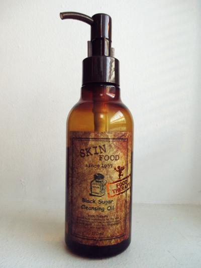 4. Skinfood Black Sugar Cleansing Oil