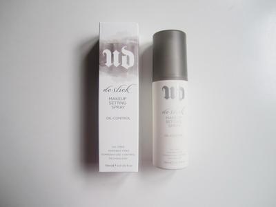 2. Urban Decay De-Slick Oil Control Makeup Setting Spray