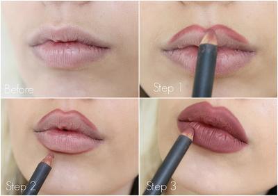 4. Overdraw Garis Bibir