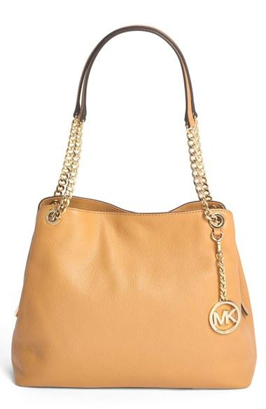 Michael Kors Jet Set Chain Item Large Shoulder Tote Peanut