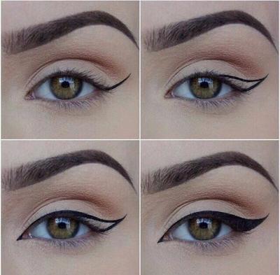 3. Jika kamu ingin mecoba wings eyeliner, usahakan panjang wingseyeliner bagian mata yang satu sama dengan mata yang lainnya.