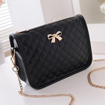 Synthetic Leather Casual Bow Shoulder Bag