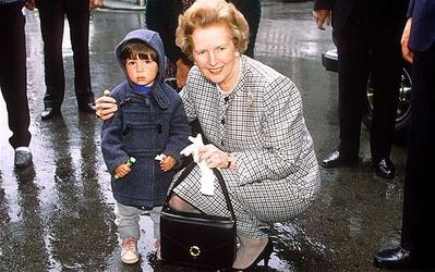 5. Margaret Thatcher Black Handbag