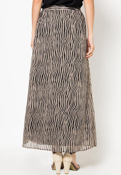 Accent Festive Collection Aasia Chiffon Zebra Printed Long Skirt