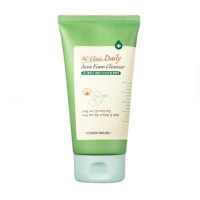 2. Etude House AC Clinic Daily Acne Foam Cleanser