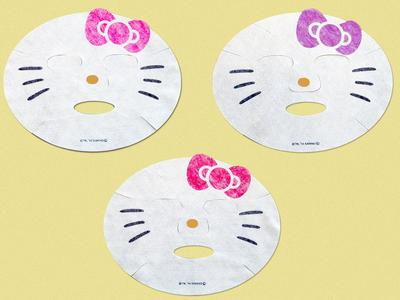 Hello Kitty Face Pack, Masker Wajah Kawaii & Meremajakan Kulit