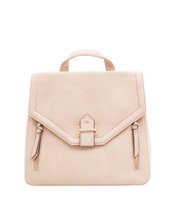 New Look Tab Zip Front Backpack