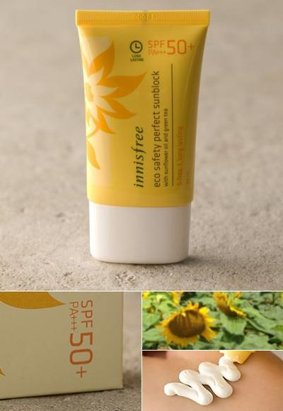 5. Innisfree Eco Safety Perfect Sunblock SPF50+PA+++