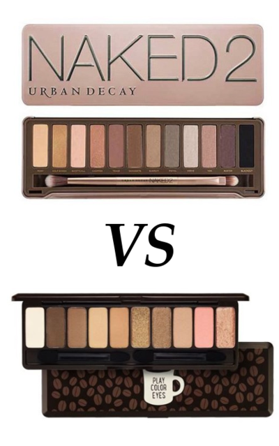 Urban Decay Naked 2 Palette vs Etude House Play Color Eyes in the Cafe