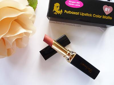 1. Lipstik Purbasari Matte No. 81 Diamond
