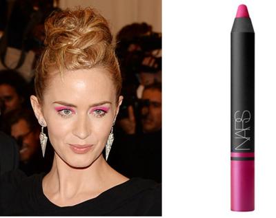Emily Blunt & NARS Satin Lip Pencil