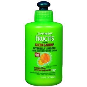2. Garnier Fructis Sleek & Shine Intensely Smooth Leave-In Conditioning Cream