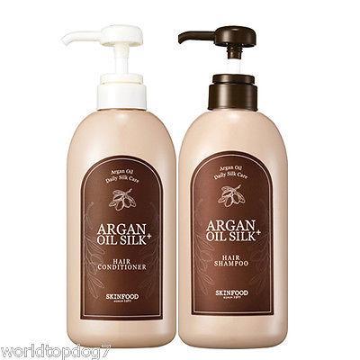 4. Skinfood Argan Oil Silk Plus Hair Shampoo