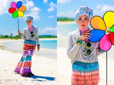 Ladies Ini Dia 6 Trik Tampil Modis Dengan Hijab Ke Pantai | Muslim | Beautynesia