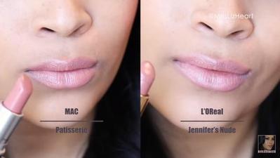 MAC Patisserie vs L'Oreal Jennifer's Nude