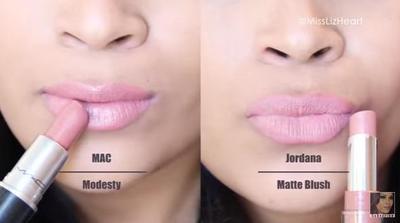 MAC Modesty vs Jordana Matte Blush