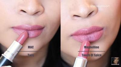 MAC Twig vs Maybelline Touch of Spice