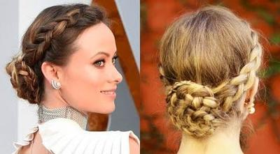 Tutorial Double Dutch Braided Bun Updo ala Olivia Wilde di Oscar 2016