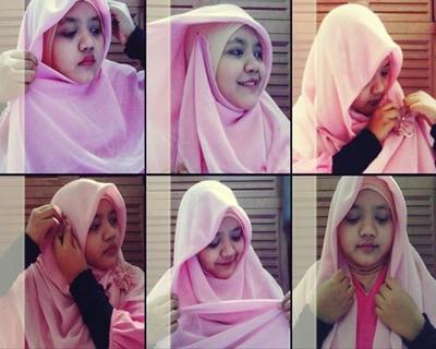 5 Langkah Mudah & Cepat Gunakan Hijab Paris Segi Empat ke Kantor