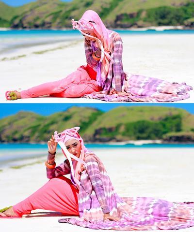 Tips Style Hijab untuk ke Pantai