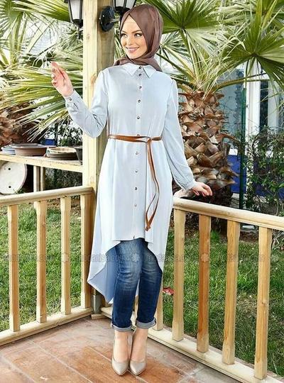 2. Perpaduan Celana dan Kemeja Panjang