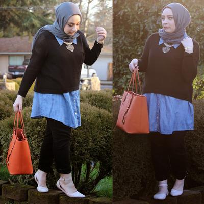 Tips memilih hijab untuk wanita bertubuh gemuk fashion beautynesia Fashion style untuk orang kurus