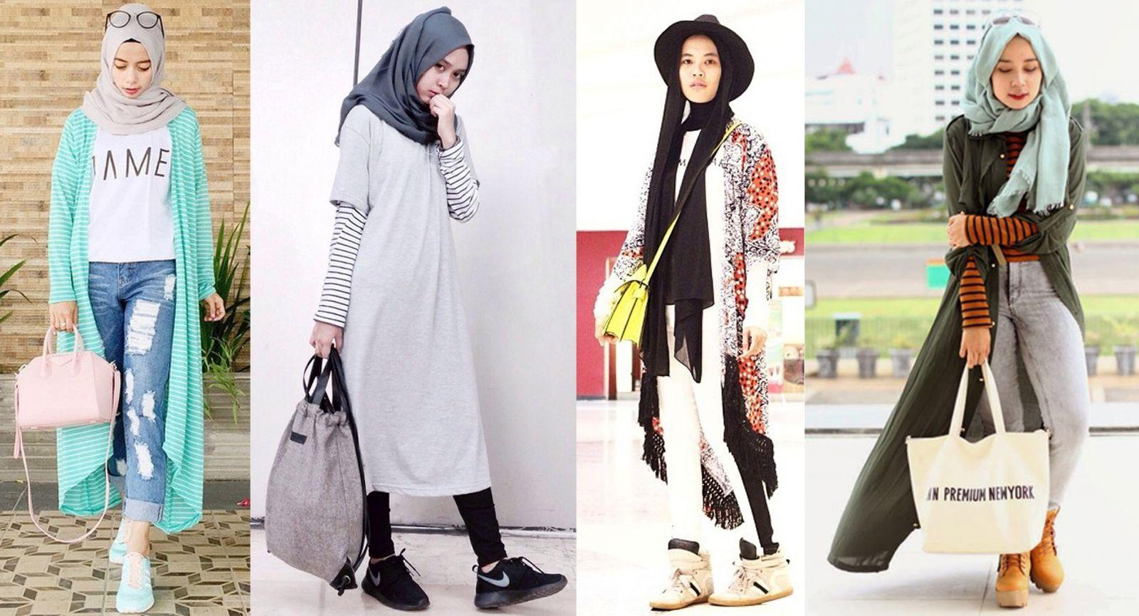 Mix Match Hijab Fashion Ala Blogger Fashion Beautynesia