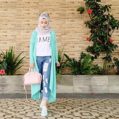 Mix Match Hijab Fashion Ala Blogger Fashion Beautynesia