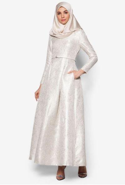 7. Zalia Jacquard Fit & Flare Dress