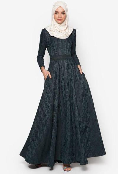 8. Zalia Lace Pieced Fit & Flare Dress