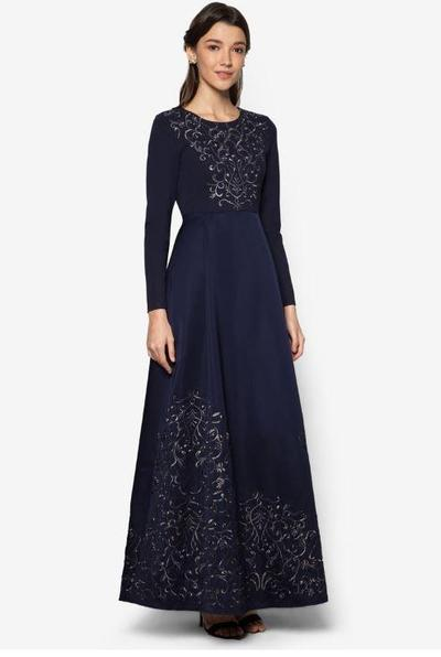 10. Zalia Embroidered Fit & Flare Dress