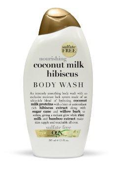 5.OGX Creamy Body Wash, Nourishing Coconut Milk Hibiscus