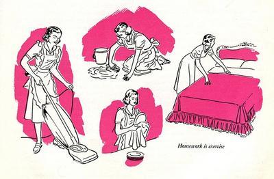 Berolahraga dengan Mengurus Rumah