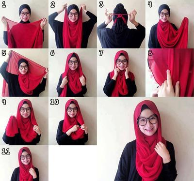 Tutorial Hijab Simple tapi Modis