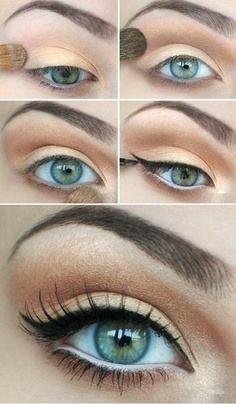 Eyeliner dan  Mascara