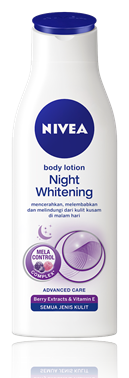 3. Nivea Body Lotion Night Whitening