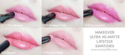 2. MAKEOVER Ultra Hi-Matte Lipstick