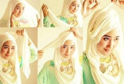 Tutorial Hijab Segiempat untuk ke Pesta