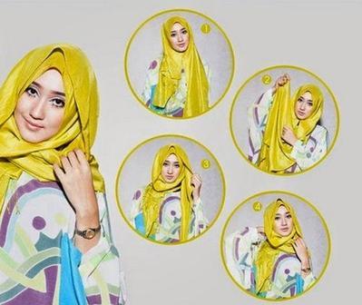 Tutorial Hijab Pashmina untuk ke Pesta