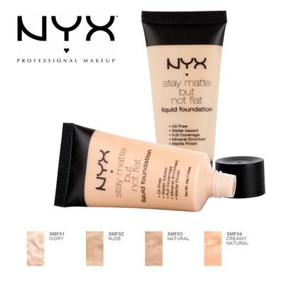 4. NYX Stay Matte But Not Flat Liquid Foundation