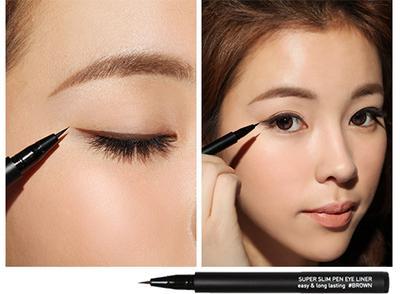 4. Eyeliner Warna Cokelat