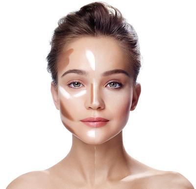 Face Makeup untuk Wajah Kotak