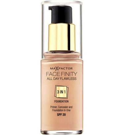 3. Max Factor Face Finity All Day Flawless 3 in 1 Foundation