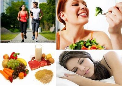 1. Mengatur Pola Makan yang Sehat, Olahraga dan Istirahat yang Cukup