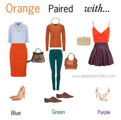 2. Padukan Orange dengan Warna Gelap