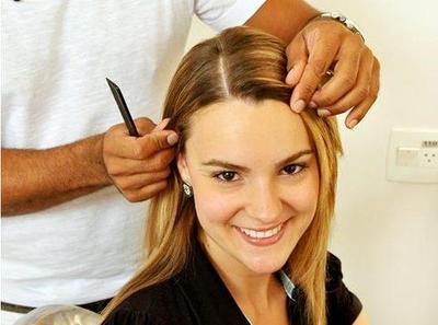 3. Membagi Rambut