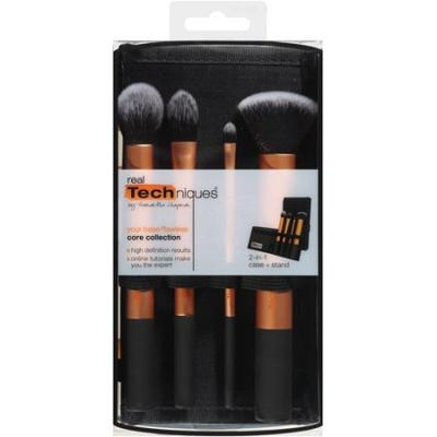 real techniques brushes walmart. source: http://www.walmart.com/ip/real-techniques-core-collection-brush -set-with-2-in-1-case-stand/21097860 real techniques brushes walmart