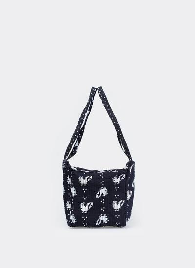 Black Hand Stamped Batik Quilting Bag dari Sejauh Mata Memandang