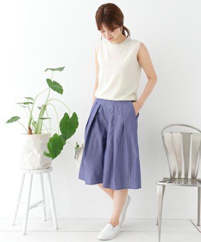 Celana Lebar x Sleveless Shirt