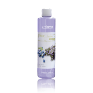 4. Oriflame Pure Nature Organic Bluberry & Lavender Extract Calming Face Wash